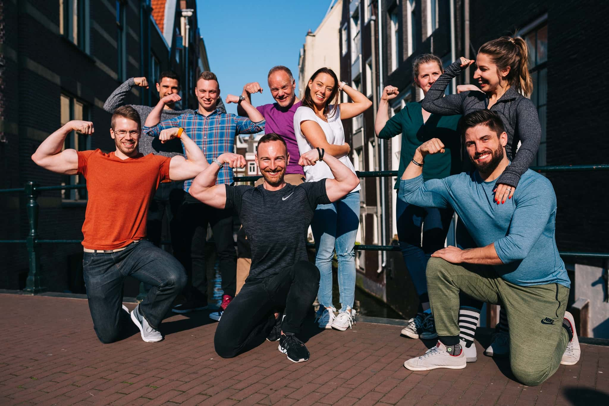 A group photo of Online Personal Trainers at the Online Marketing Mastermind by Exceed Masterclass