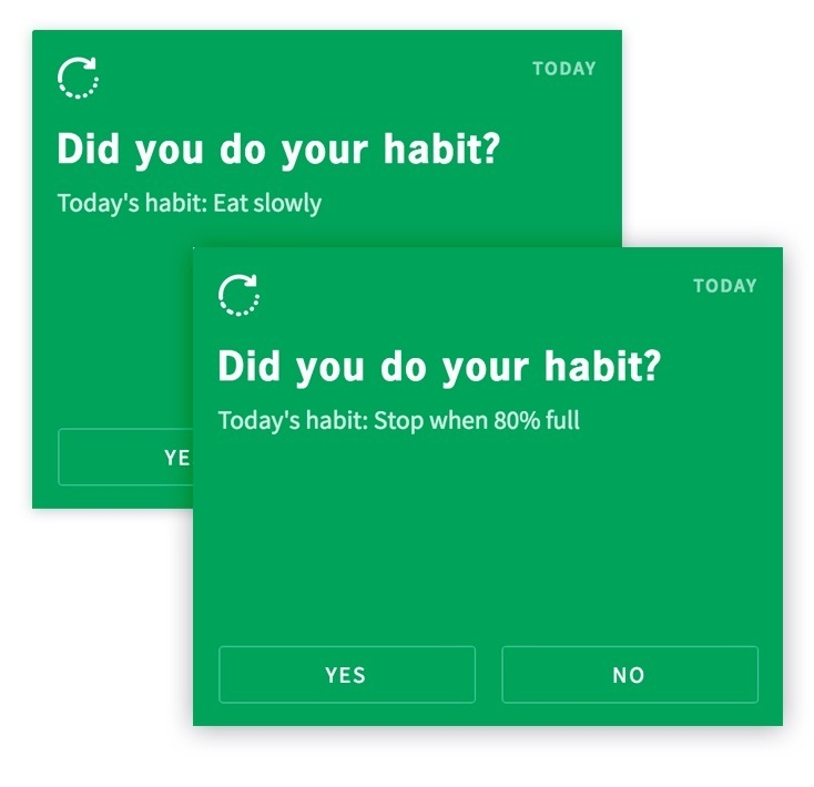 display of habit check in for clients in procoach software